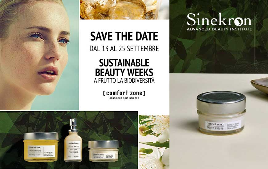 Sustainable Beauty Weeks promo Comfort Zone in Provincia di Avellino